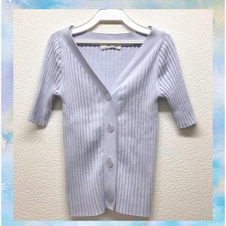 snidel - 【完売品】スナイデル snidel カーディガン フリーサイズ 半袖 リブ