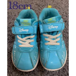 ディズニー(Disney)のディズニー アリス スニーカー 女の子18cm 水色(スニーカー)