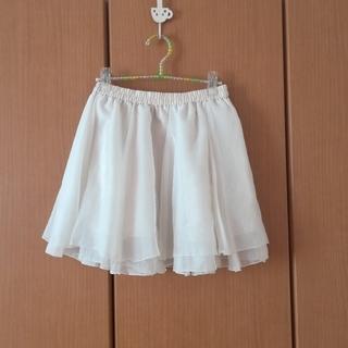 アロー(ARROW)の白のチュールスカート(ミニスカート)