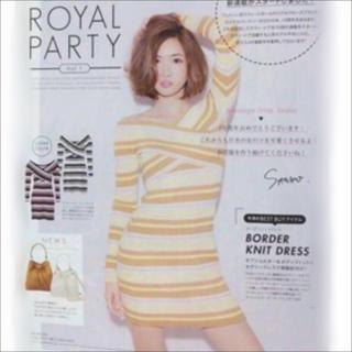 ROYAL PARTY マルチボーダー ニット ワンピース♡DURAS ムルーア