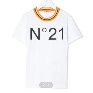 ヌメロヴェントゥーノ(N°21)の新品タグ付 N°21 ロゴ クルーネックTシャツ(Tシャツ(半袖/袖なし))