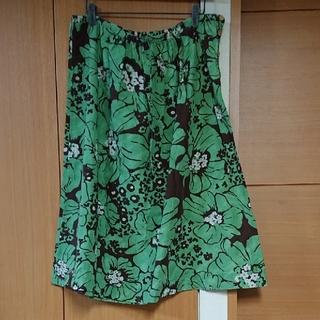 フォーティーファイブアールピーエム(45rpm)の45rpm花柄スカート   サイズ3 フォーティーファイブ(ひざ丈スカート)