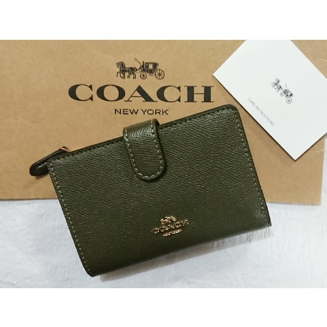 COACH(コーチ)のコーチ COACH 二つ折り財布   2020最新色❗春モデル  キャンティーン レディースのファッション小物(財布)の商品写真