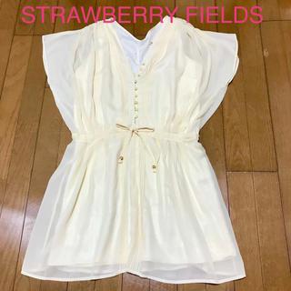 STRAWBERRY-FIELDS - ★美品★STRAWBERRY FIELDS シフォンワンピース