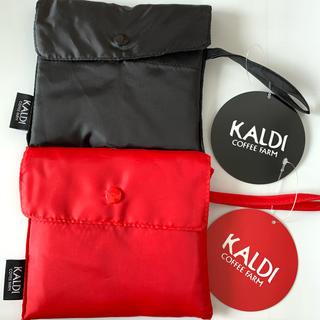 KALDI - カルディ エコバッグ ブラック レッド