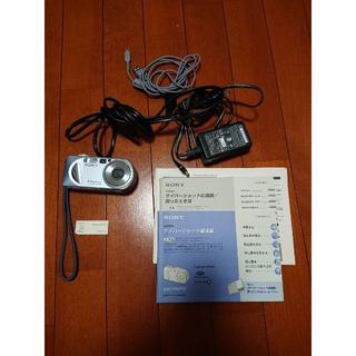 ソニー(SONY)のSONY ソニーデジカメ サイバーショット DSC-P8 動作確認済 ブルー(コンパクトデジタルカメラ)