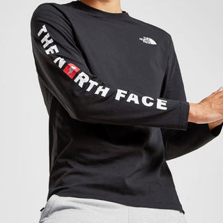 THE NORTH FACE - 即購入可能新品タグ付 ノースフェイス ロゴT ロンT 袖ロゴ 黒  M 正規品