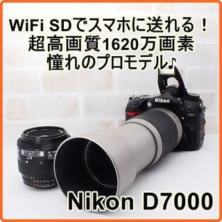 ニコン(Nikon)の★ WiFiでスマホ転送OK! Nikon 7000 ダブルレンズキット ★(デジタル一眼)
