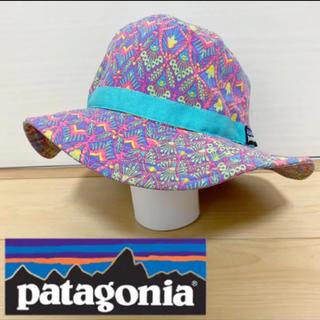 patagonia - パタゴニア 54 55 56 幾何学模様 マウンテンハット キッズ 帽子