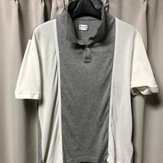 モンクレール(MONCLER)の国内正規品 モンクレール ガムブルー バイカラー ポロシャツ サイズM(ポロシャツ)