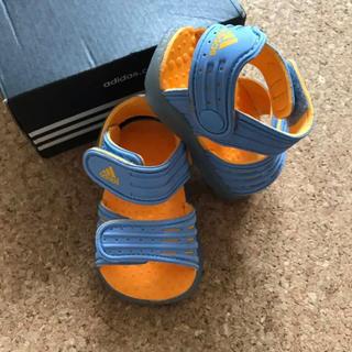 アディダス(adidas)の【新品未使用】adidas ベビーサンダル 12cm ブルー×オレンジ(サンダル)