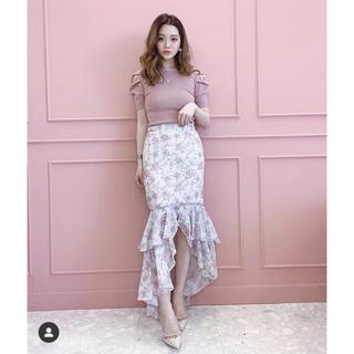 eimy istoire - 新品 eimy Amanda flower マーメイド スカート ピンク 花柄