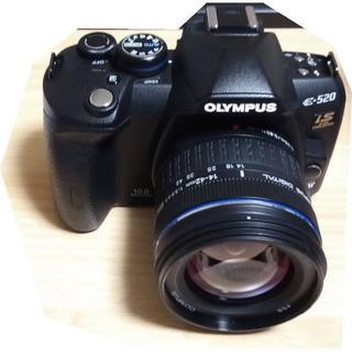 オリンパス(OLYMPUS)のE-520 OLYMPUS レンズキット 純正リモコンRM-1 付属品揃ってます(デジタル一眼)