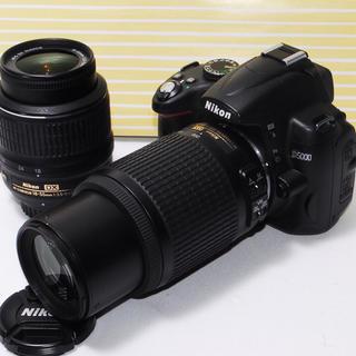 ニコン(Nikon)の⭐︎遠くの撮影もバッチリ⭐︎Nikon D5000 一眼レフダブルレンズ(デジタル一眼)
