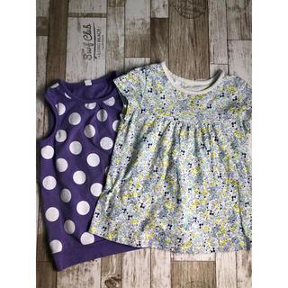 ユニクロ(UNIQLO)のユニクロ 半袖Tシャツ  トップス 2点セット 90cm 95cm  キッズ(Tシャツ/カットソー)