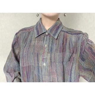 Santa Monica - new  vintage ミックスカラー シャツ