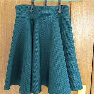 スピンズ(SPINNS)のスカート 緑(ひざ丈スカート)