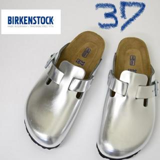 ビルケンシュトック(BIRKENSTOCK)の新品 ビルケンシュトック BIRKENSTOCK シルバー BOSTON (サンダル)