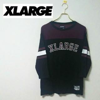 エクストララージ(XLARGE)の【美品】XLARGE【エクストララージ】ビッグ刺繍ロゴ入り7分袖Tシャツ(Tシャツ/カットソー(七分/長袖))