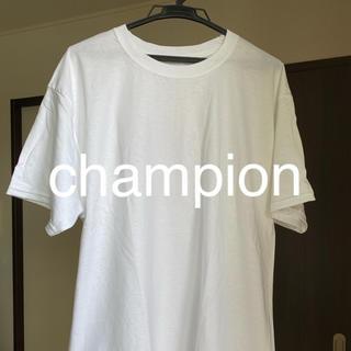 チャンピオン(Champion)のチャンピオン Tシャツ Lサイズ ホワイト ユニセックス(Tシャツ/カットソー(半袖/袖なし))