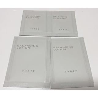 スリー(THREE)のTHREE化粧水乳液 サンプルセット(サンプル/トライアルキット)