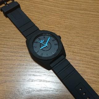 アディダス(adidas)のアディダス adidas 腕時計 黒 美品(腕時計(アナログ))
