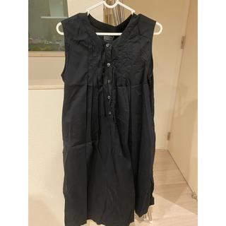 ムジルシリョウヒン(MUJI (無印良品))の授乳服 マタニティ ワンピース 無印 黒 ブラック M L(マタニティワンピース)