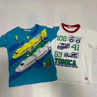 ユニクロ(UNIQLO)の新幹線トミカ乗り物Tシャツ2枚(Tシャツ/カットソー)
