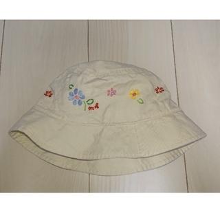 mikihouse - ミキハウス 花柄刺繍 帽子 54cm オフホワイト