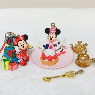 ディズニー(Disney)のディズニー ミニー ストラップ、チャーム セット(ストラップ)