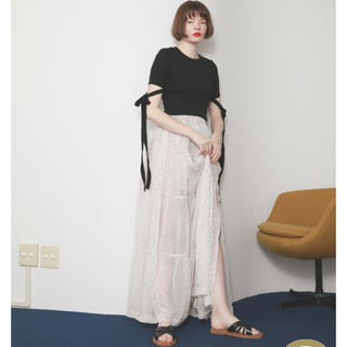 Rosary moon - Chiffon Dot Teared Skirt ロザリームーン