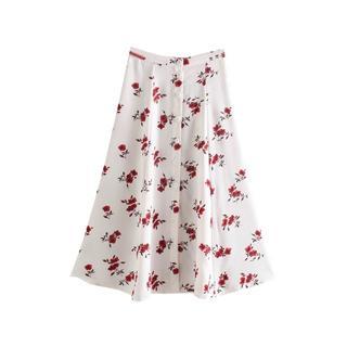 ザラ(ZARA)の1712*S/S 花柄 フレアスカート(ひざ丈スカート)