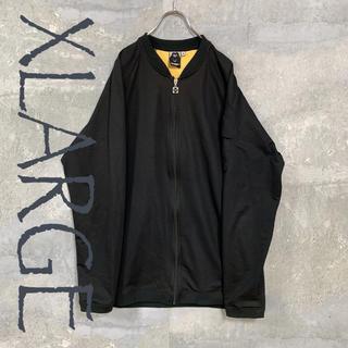 エクストララージ(XLARGE)のXLARGE ジップアップブルゾン パーカー ブラック L メンズ(ブルゾン)