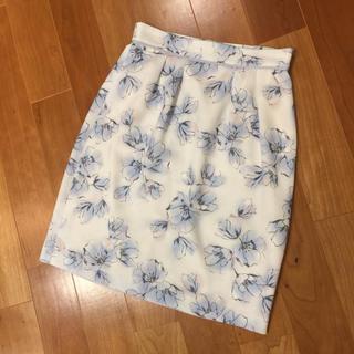 プロポーションボディドレッシング(PROPORTION BODY DRESSING)の花柄スカート タイトスカート プロポーションボディドレッシング サイズ3(ひざ丈スカート)