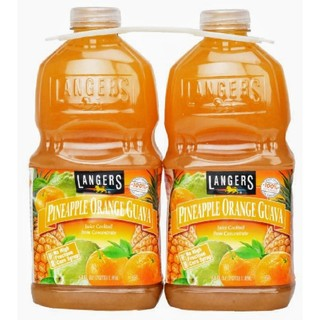 コストコ(コストコ)のコストコ ランガース パイナップルオレンジグァバ飲料 1.89L x 2(ソフトドリンク)