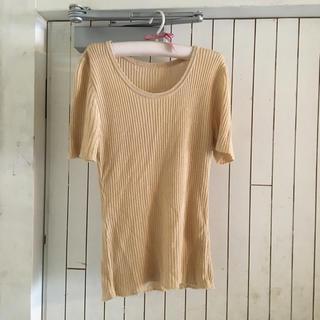 vintage beige  knit  tops.