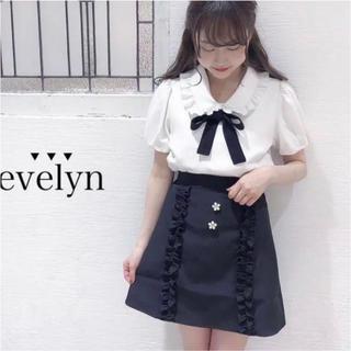 evelyn - evelyn 新品タグ付き 半袖リボンボウタイブラウス