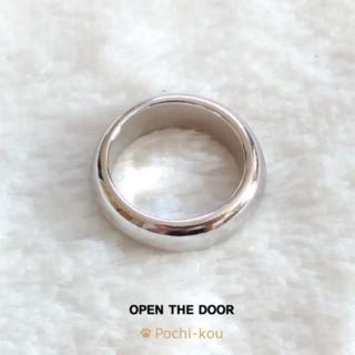 セール OPEN THE DOOR ラウンド リング 指輪 グロス 11号 銀色(リング(指輪))