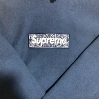 シュプリーム(Supreme)のSupreme bandana boxlogo hooded navy(パーカー)