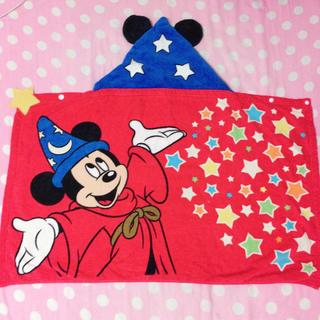 Disney - ミッキー フード付タオル