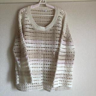 ギャップ(GAP)の大きいサイズ レディース  透かし編み(カットソー(長袖/七分))