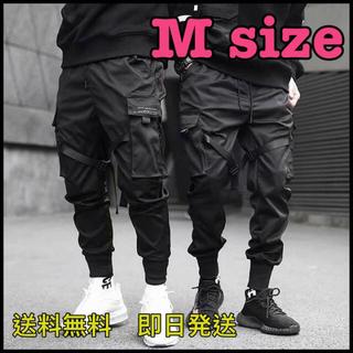【カーゴパンツ】ベイカーパンツ スリム ウエストゴム ポケット 裾リブ【M】(ワークパンツ/カーゴパンツ)