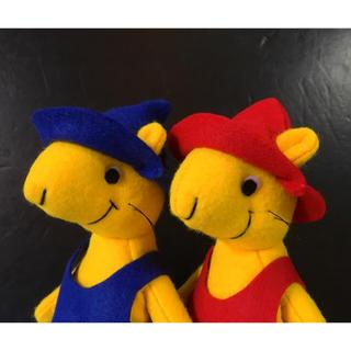 野ねずみフエルト人形セット 赤い帽子青い帽子 ハンドメイド(ぬいぐるみ)