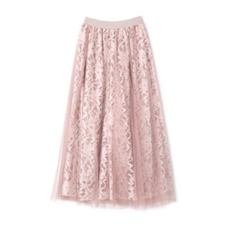 PROPORTION BODY DRESSING - チュールレーススカート  ピンク