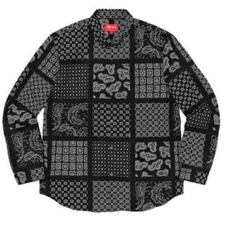 Supreme - supreme paisley grid shirt Black M