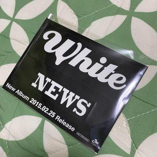 NEWS - NEWS 当選品 非売品 ステッカー White