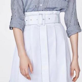 ザラ(ZARA)の【ZARA】ベルト付きスカート XSサイズ(ロングスカート)