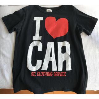 """オイル(OIL)の★OIL PLUS★""""I ❤︎ CAR"""" 半袖Tシャツ 黒 140cm(Tシャツ/カットソー)"""