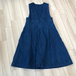 merlot - ジャンパースカート デニム ワンピース merlot メルロー