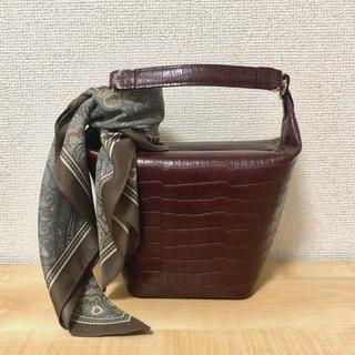 FRAY I.D - 新品 フレイアイディー スカーフ付き台形ミドルボストン バッグ
